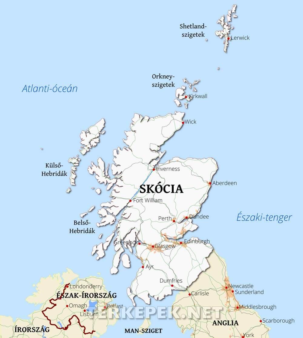 anglia domborzati térkép Skócia álatlános térképe anglia domborzati térkép